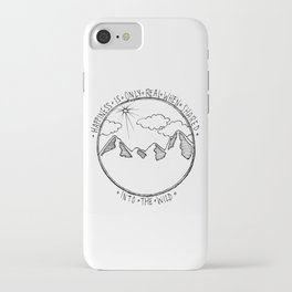 Into the Wild Mountains iPhone Case