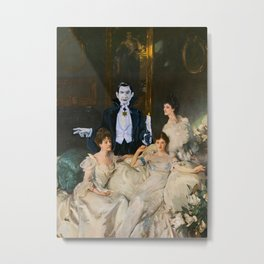 Dracula and the Wyndham Brides Metal Print