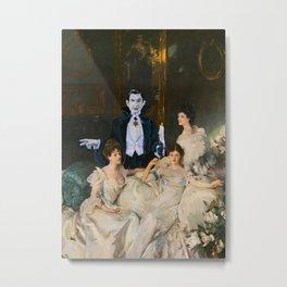 Dracula and the Wyndham Brides Metal Print
