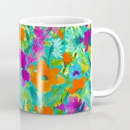 Wild Garden Teal Coffee Mug