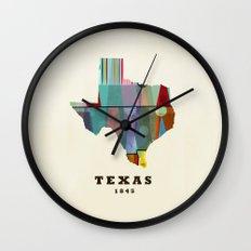 Texas state map modern Wall Clock