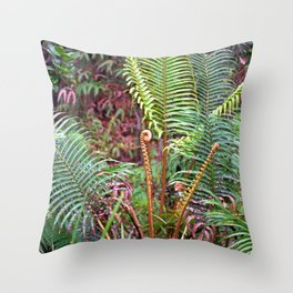Big Island Ferns Throw Pillow