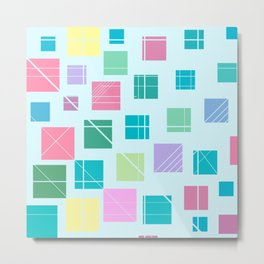 geometric squares pattern Metal Print