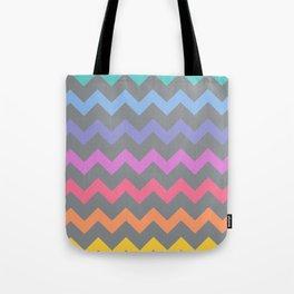 Rainbow Chevron Tote Bag