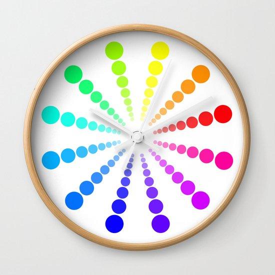 dots & circles o2 Wall Clock