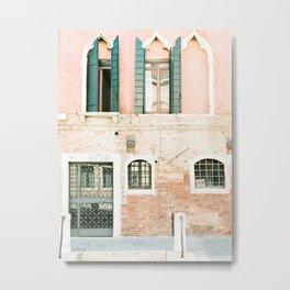 Pastel Venice Building Facade Metal Print