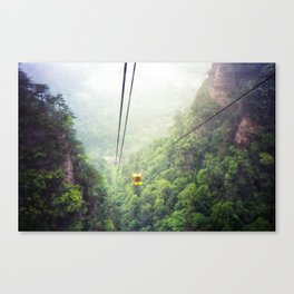 Zhang jia jie Cable car in the mist Canvas Print