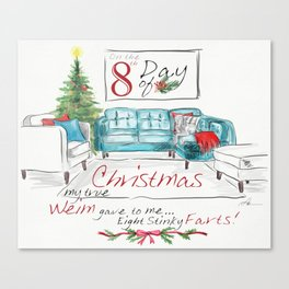 EIGHTH DAY OF CHRISTMAS WEIMS Canvas Print