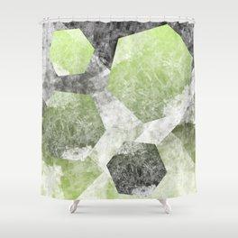flatland 2 (green) Shower Curtain