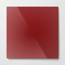 Carmine Red Scales Pattern Metal Print