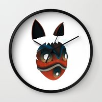 princess mononoke Wall Clocks featuring Mononoke by KoryDemers