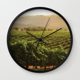 Wine Country Morning Wall Clock