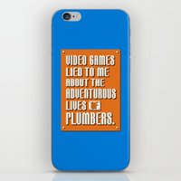 video games iPhone & iPod Skins featuring Video Games Lied To Me by Made With Awesome