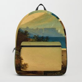 The Bay of Naples, Italy & Mount Vesuvius by Ludwig Richter Backpack
