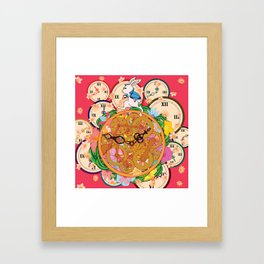 Running with time Framed Art Print