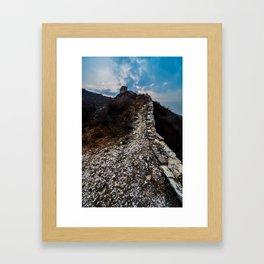 Climbing The Great Wall Framed Art Print