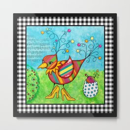Momma Bird Metal Print