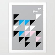 12_wingdings3_7a Art Print