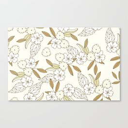 Teeny tiny white flowers Canvas Print
