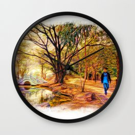 Stroll In The Park. Wall Clock