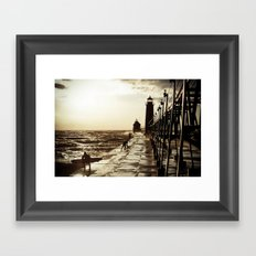 Waves;Grand Haven Framed Art Print
