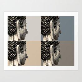buddah heads Art Print