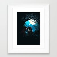 gravity falls Framed Art Prints featuring Gravity by Larelley