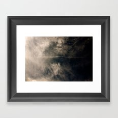 high energy proton detection Framed Art Print