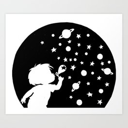 creating the universe Art Print
