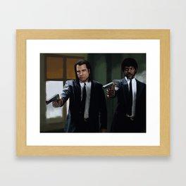 Badass Suits Framed Art Print