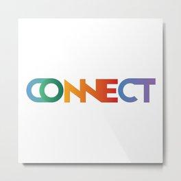 Premade Logo - Connect Metal Print