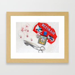 Sewing Collages Framed Art Print