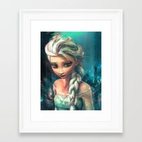 storm Framed Art Prints featuring The Storm Inside by Alice X. Zhang