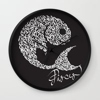 pisces Wall Clocks featuring pisces by freebornline
