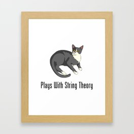 Plays With String Theory Framed Art Print