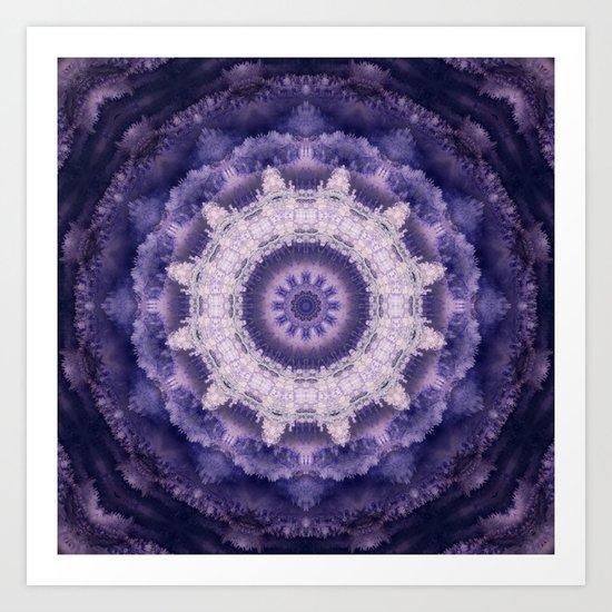 Mandala in purple colors . Art Print