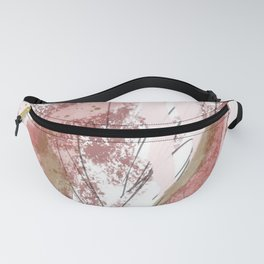 Sugar and Spice: a minimal, abstract mixed-media piece in pink and brown by Alyssa Hamilton Art Fanny Pack