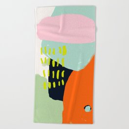 pink cloud Beach Towel