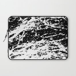 Black and White Paint Splatter Laptop Sleeve