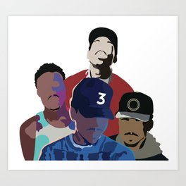 Chance the Rapper - Coloring Book, Acid Rap, 10 Day, SOX Art Print