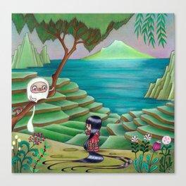 Meeting Friend by  Rice Paddies Canvas Print