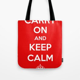 Carry On and Keep Calm Tote Bag