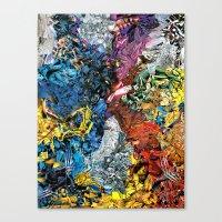 xmen Canvas Prints featuring The XMen by MelissaMoffatCollage