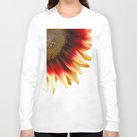 sunflower Long Sleeve T-shirts featuring Sunflower by Wood-n-Images