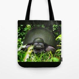 Slow Commando - Army Turtle Tote Bag