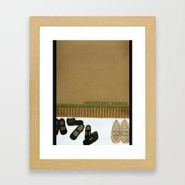 Important Things Framed Art Print