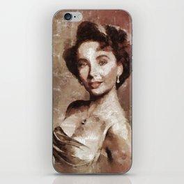 Elizabeth Taylor by Mary Bassett iPhone Skin