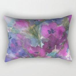 Red Violet Blue Violet Rectangular Pillow