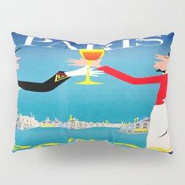 Vintage poster - Paris Pillow Sham