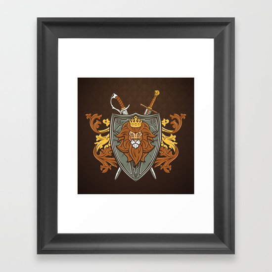 One True King Framed Art Print